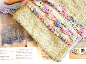 crochet towel edging- by Glaser Crafts