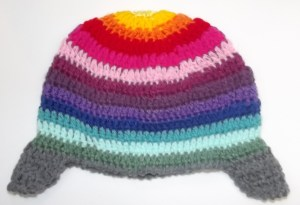 Rainbow Cozy crochet hat