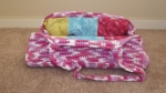 crochet doll bed-bag- ready