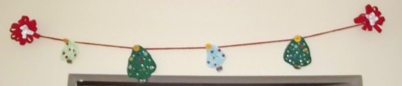 Crochet X'mas banner