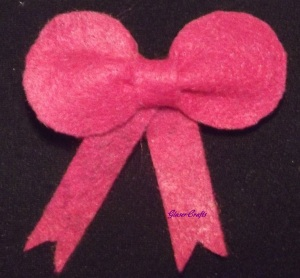 felt bow hair barrette