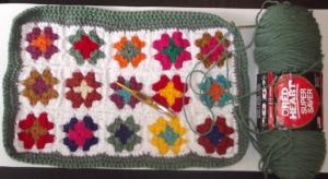 crochet in progress part II- back  part- by Glaser Crafts