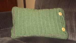 granny cushion back side- Glaser Crafts