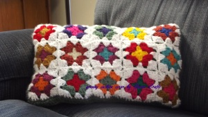granny cushion cover front