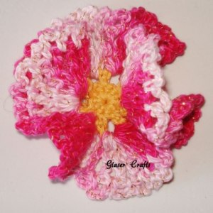 Pink flower by Glaser Crafts