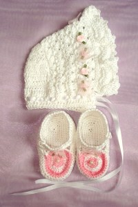 christening crochet set by glaser crafts