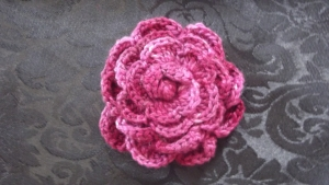 crochet rose 2- cotton thread