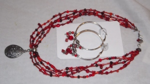 redilicious loop earring and necklace set by Glaser Crafts