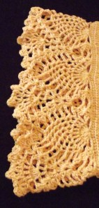 crochet pineapple edging- by Glaser Crafts