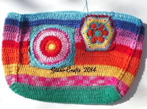 glasercrafts crochet colored purse
