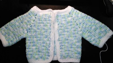 Crochet Baby jacket for Owen-by glasercrafs