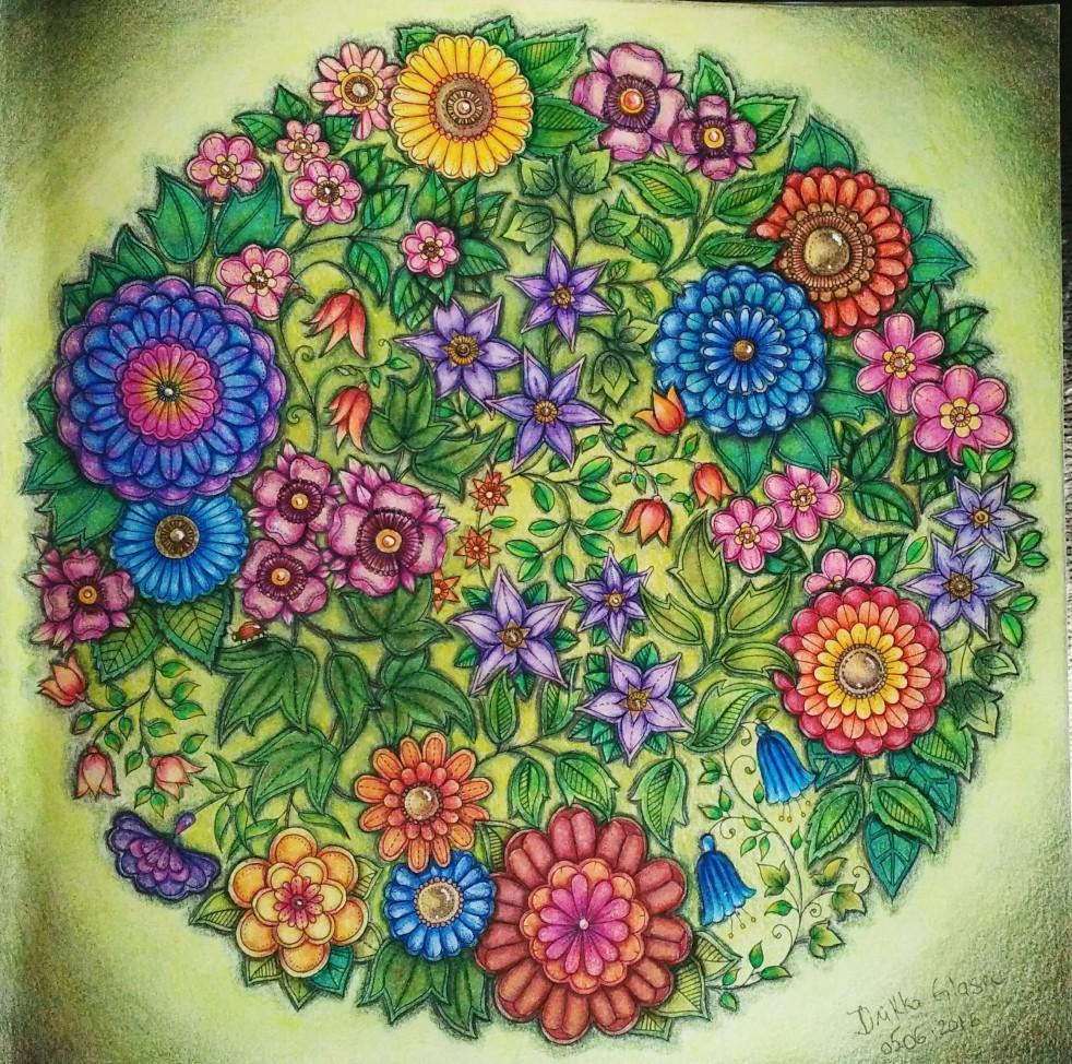 Secret Garden Flower Coloring